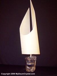 My Daum Crystal Tall Sailboat Lamp