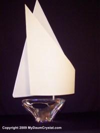 My Daum Crystal Short Sailboat Lamp