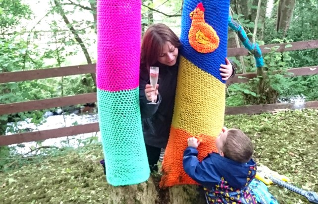 Stendhal knitted trees