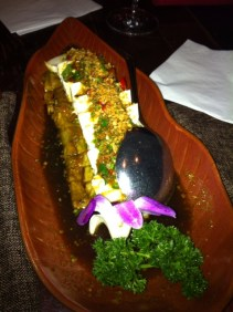 Tofu and Eggplant apetizer, this was one of my favorites!