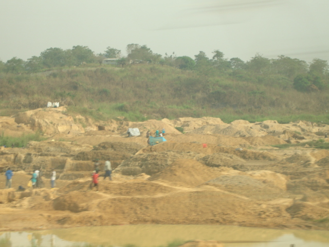 diamond pit and people...