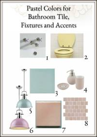 pastel bathroom tile, fixtures and accents - My Decorating ...