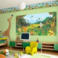 You can involve your kids to do murals on wall you can yourself do