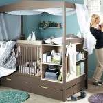 Turquoise Baby Nursery Design With Functional Brown Baby Crib Baby Nursery Design And Furniture My Decorative
