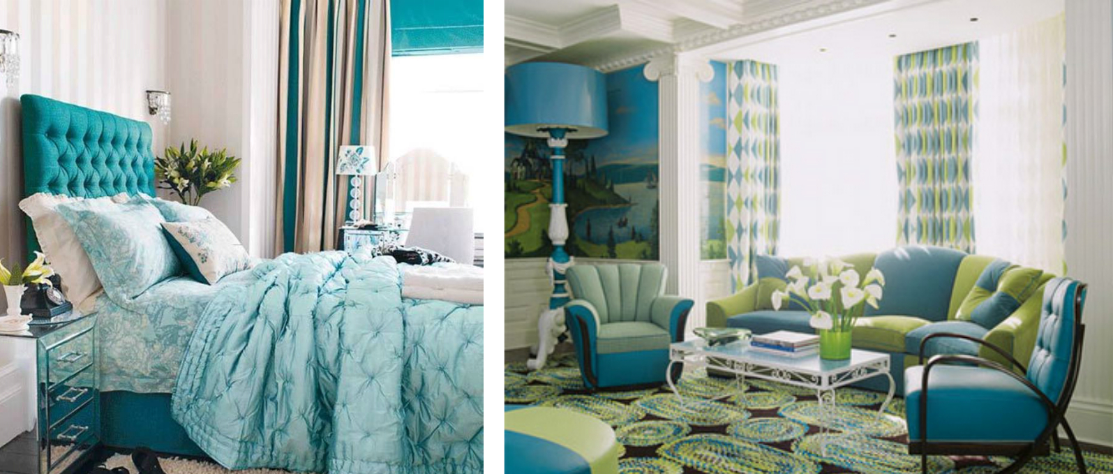 Decorate Home With Blue And Green My Decorative