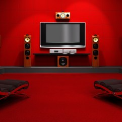 Gaming Lounge Chair With Monitors Great Home Theater Room | My Decorative