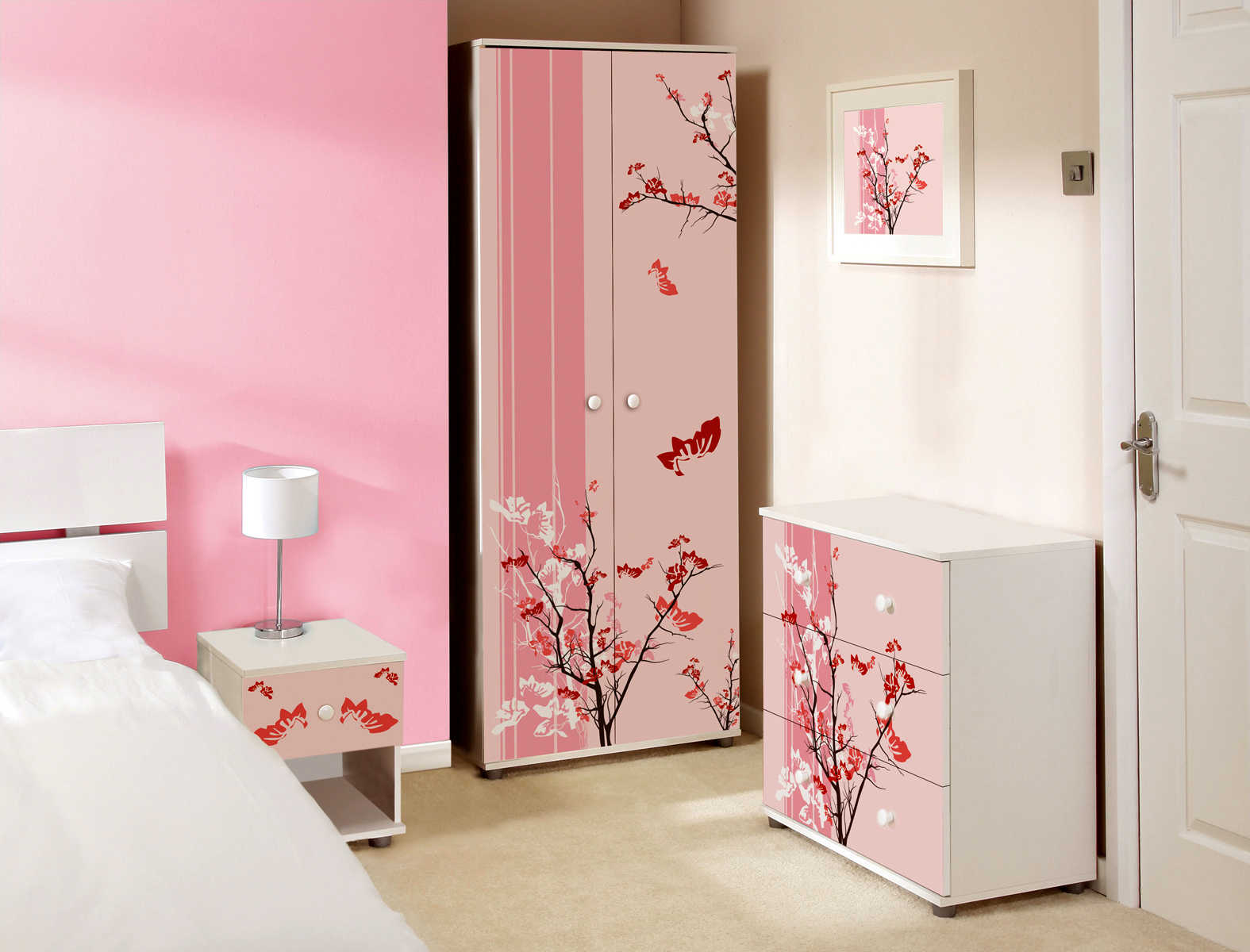 To get a more cheerful feel in a kindergarten class. Pink Bedroom Ideas   My Decorative