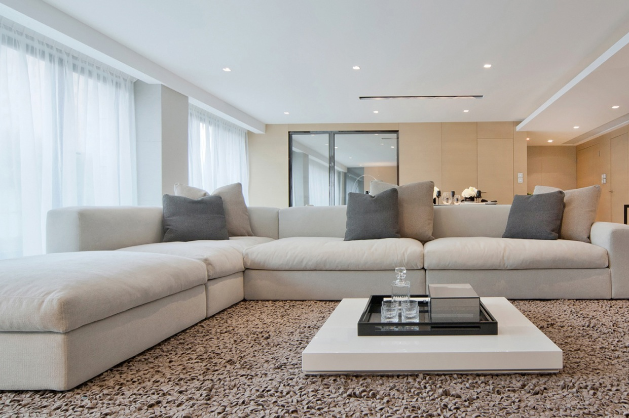 white sofa modern living room padalgal make your home look cozy in winters my decorative