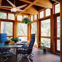 Creating a Beautifully Transitional Enclosed Porch | My ...
