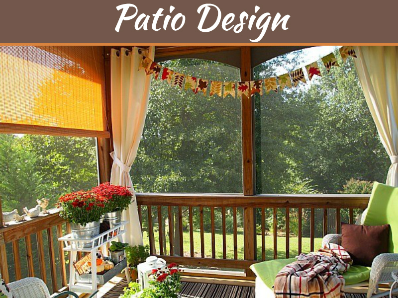 decking into an enclosed patio space
