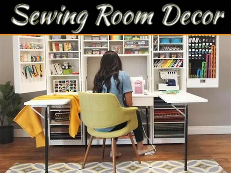 decorating a sewing room everything