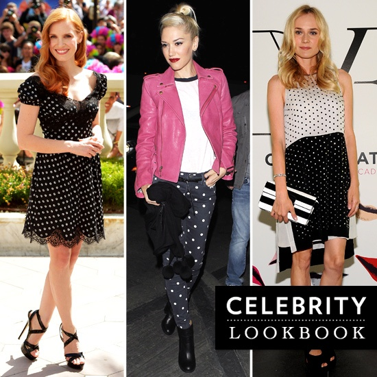 Celebrities wearing polka dots
