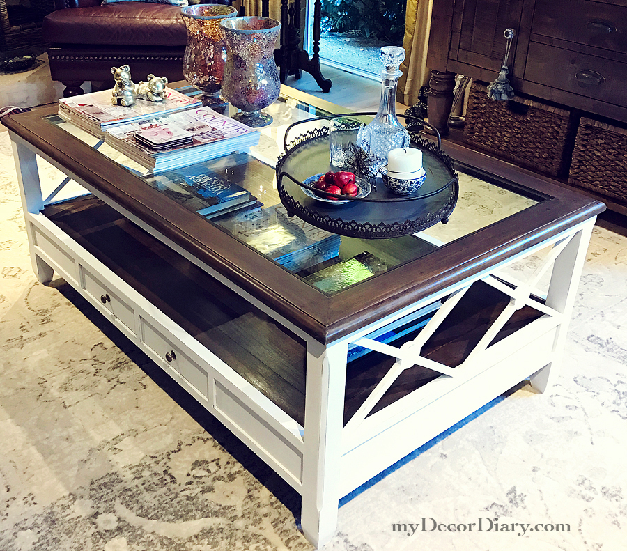 Changing the look of a coffee table with chalk paint