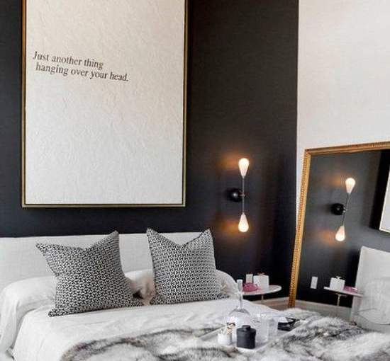 Style in black and white at the bedroom