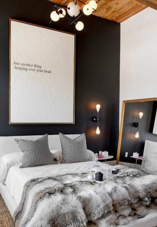 Style in black and white at the bedroom - My Deco Tips