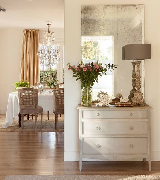 bright interior with mirrors