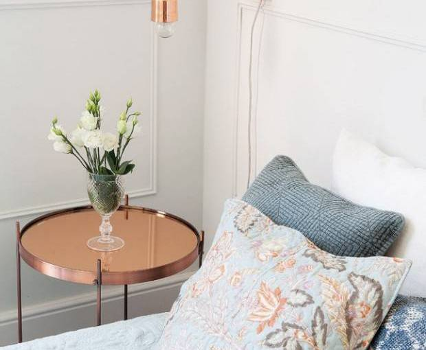 Decorate with copper finishes
