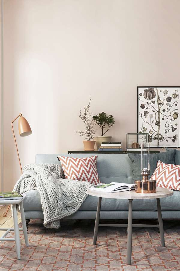 living room with vegetable touch
