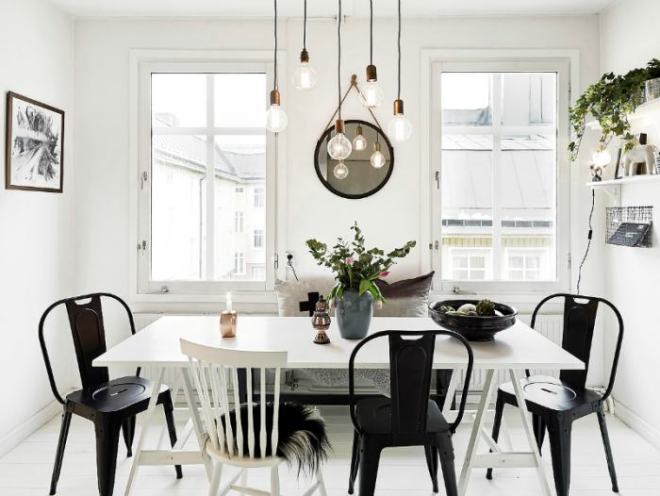 Stylish dining room and low cost