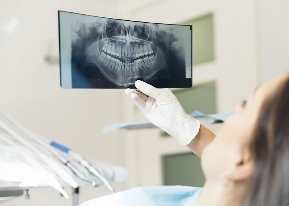 dentist taking x ray