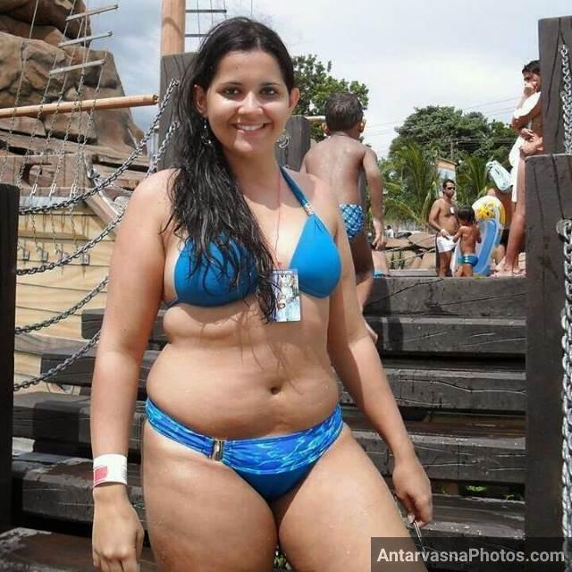 hot big boobies wali bhabhi ki blue bra panty me fooli hui chut