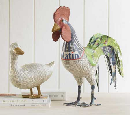 Fabulous Friday Find Papier Mache Animals  Design Chic