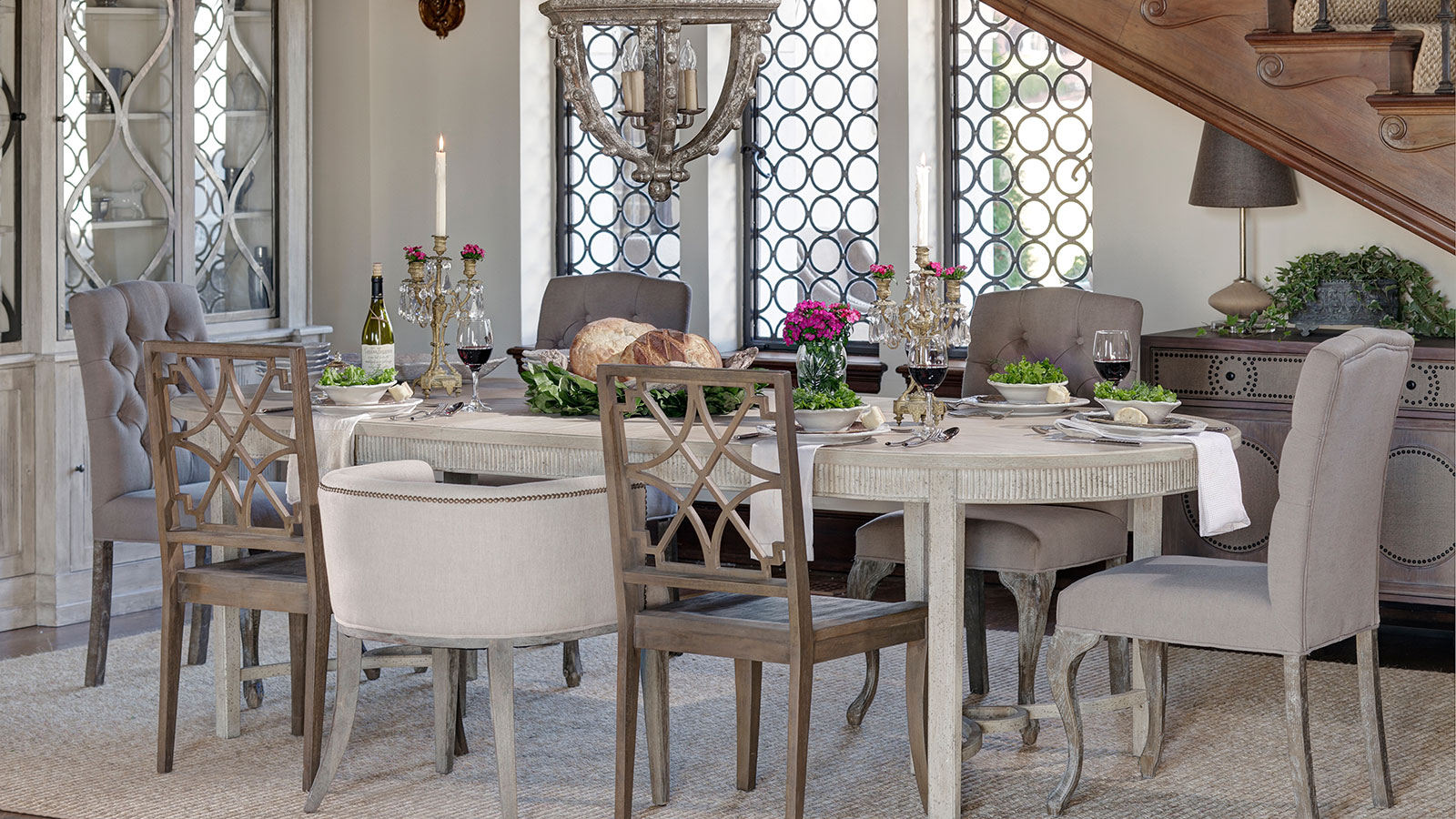 mismatched dining chairs sunbrella lounge chair replacement cushions designers we like design chic