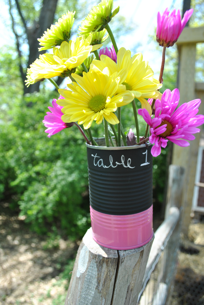 Simple Centerpieces  Painted Tin Cans  My Designed Life