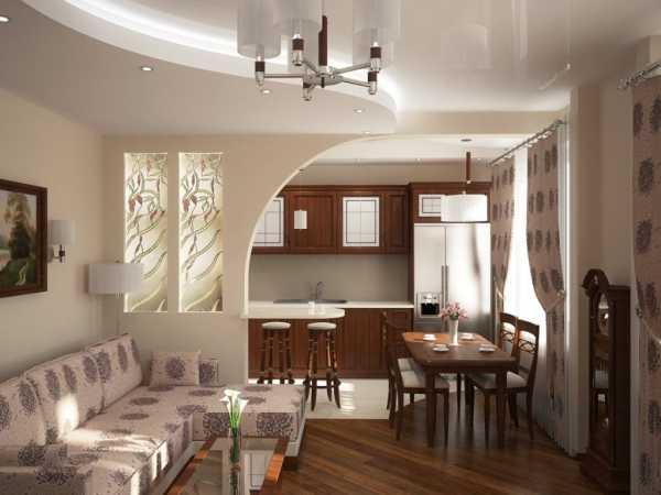 дизайн кухня столовая гостиная в частном доме фото 3