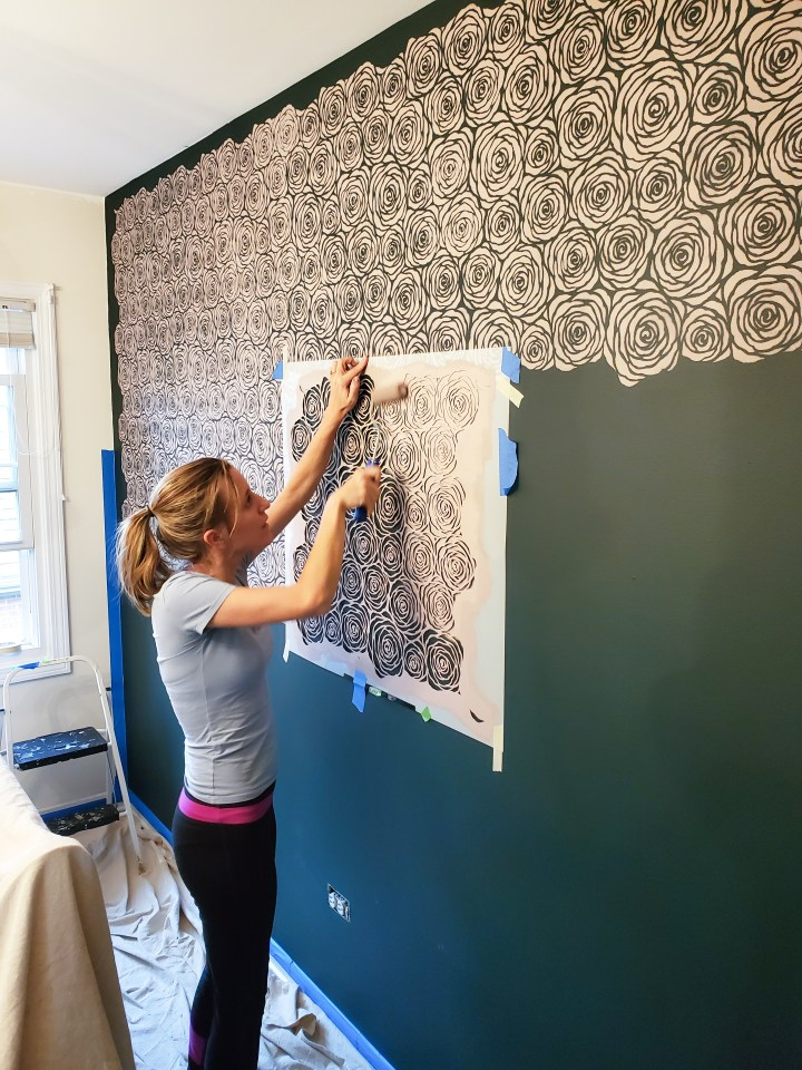 One Room Challenge – Week 4: DIY Accent Wall with Stencils