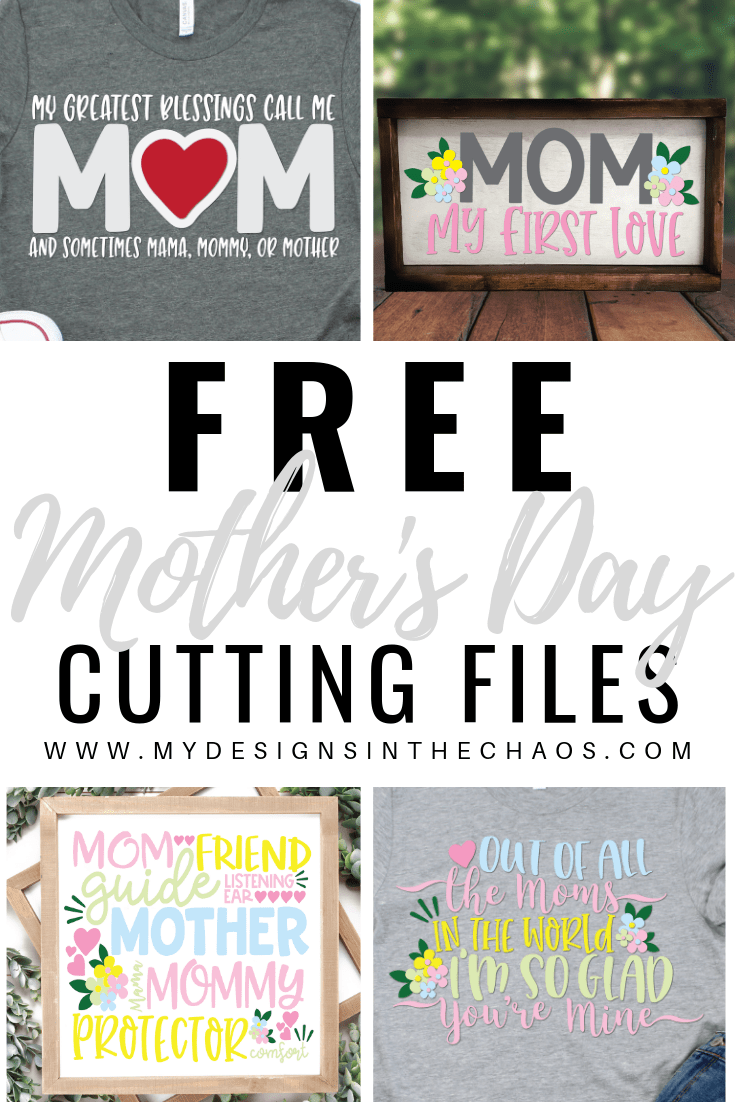 Mother's Day Svg : mother's, Mother's, Files, Designs, Chaos