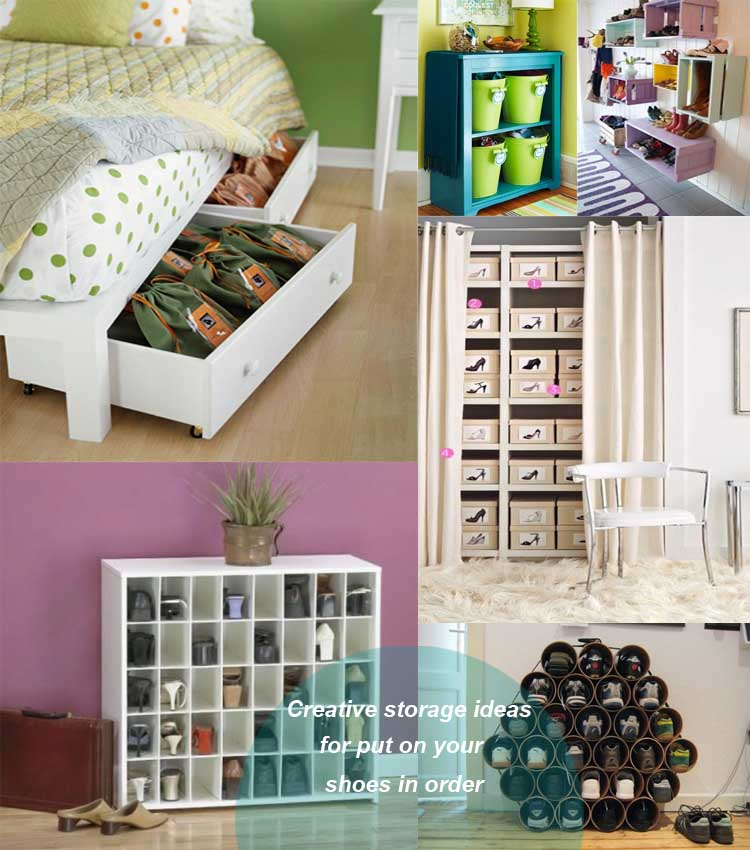 Creative storage ideas for shoes17  My desired home