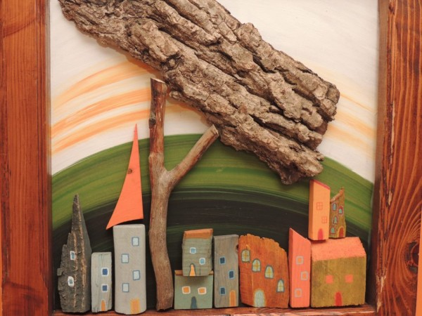 woodend pictures made from recycle driftwood and tree branches