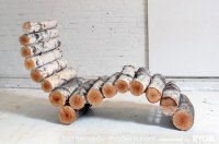 Great Diy log lounge chair for your outdoors | My desired home