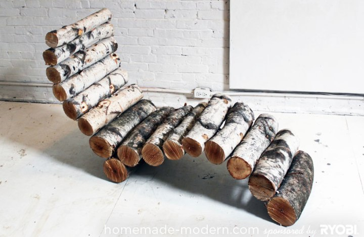 Diy log lounge chair6