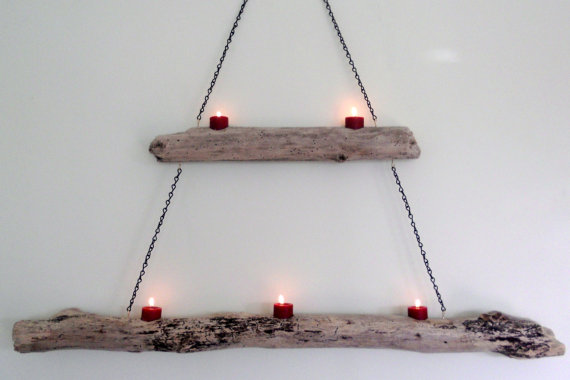 Best Diy Driftwood inspirations candle holder