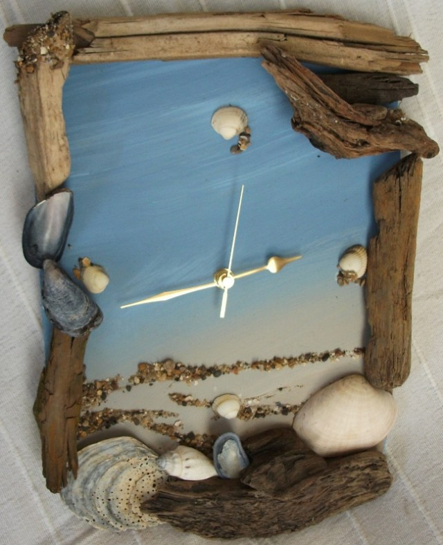 Best Diy Driftwood inspirations clock