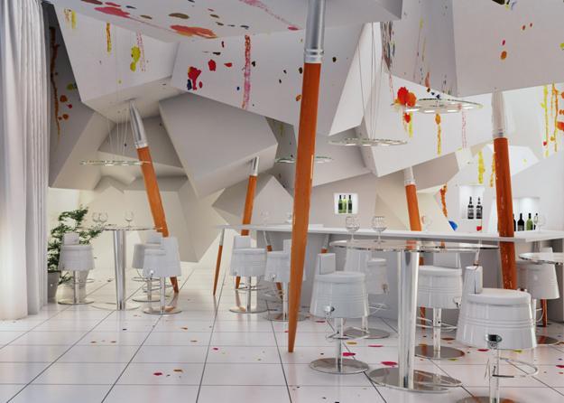 painting inspired interior design decoration