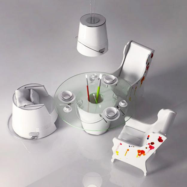 painting inspired interior design decoration3