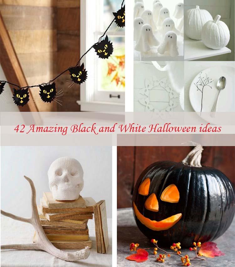 Black and white Halloween ideas42
