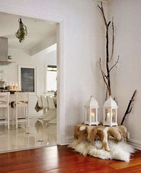 Decorating for Christmas with branches5