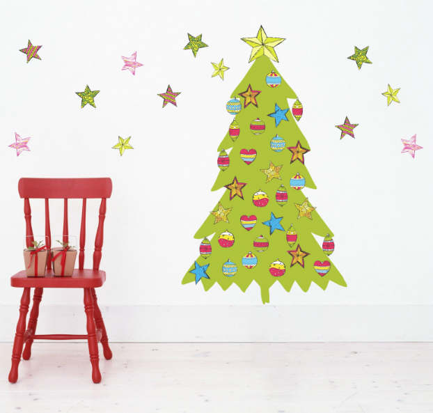 Diy adhesive Christmas Trees by Pixers4