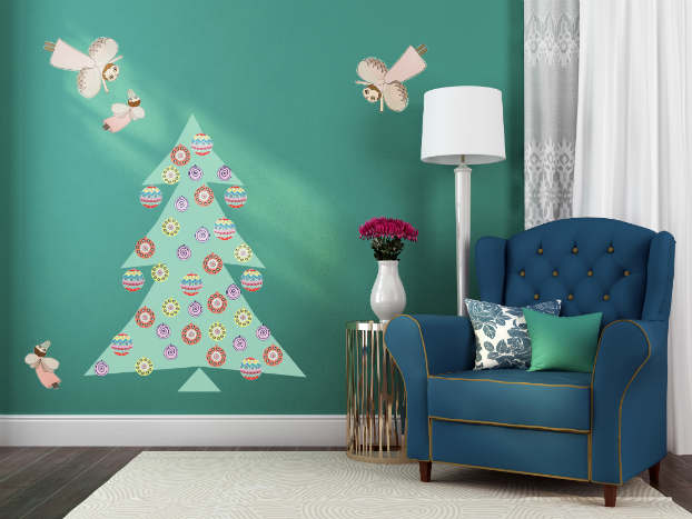 Diy adhesive Christmas Trees by Pixers6