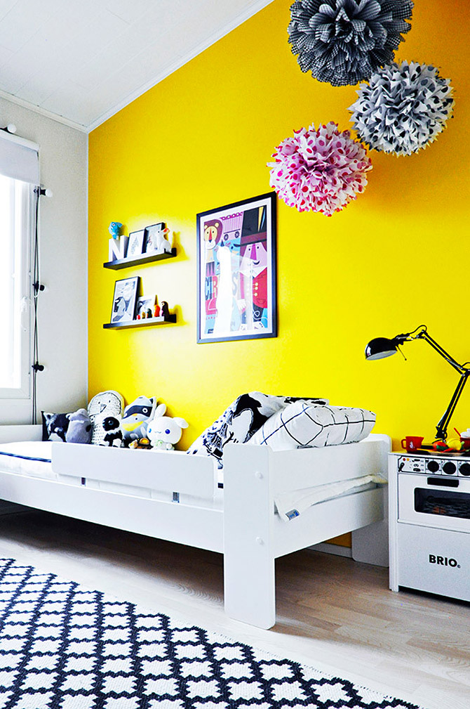 Wonderful Childrens room in yellow and pink  My desired home