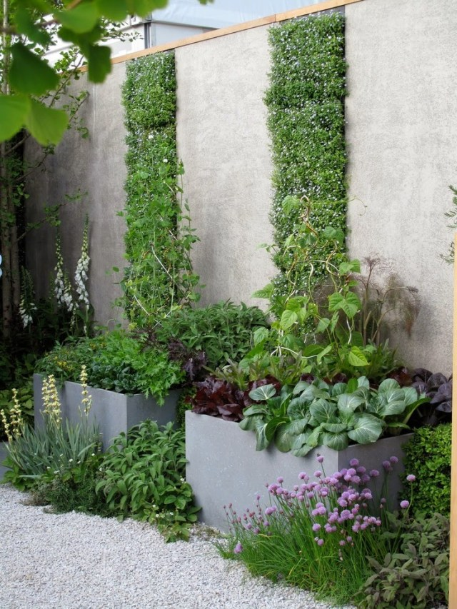 Ideas for small gardens - Balconies12