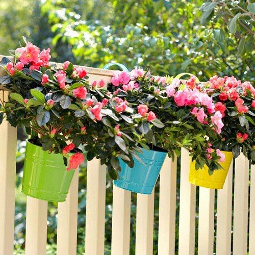 Ideas for small gardens - Balconies31