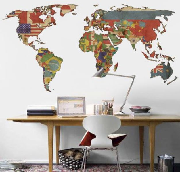 Maps as decorative objects4