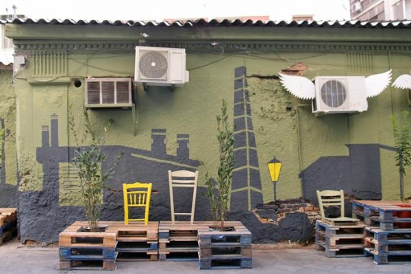 Street art conversion with pallets, plants and painting7