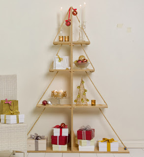 Christmas tree ideas from log and branches13