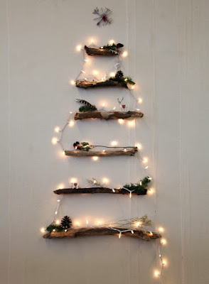 Christmas tree ideas from log and branches29